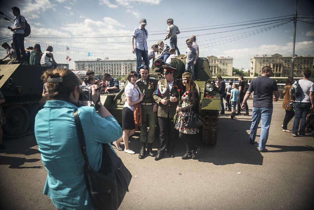 Moskau - Tag des Sieges 9. Mai